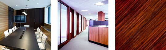 Conference Room, Glass Office Walls, Wood Panels