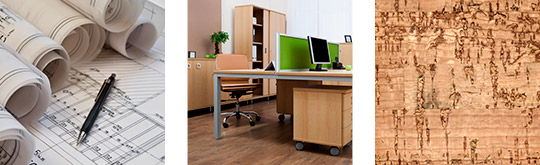 Floor Plans, Office Workstation, Cork Flooring